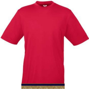 Performance Bright Red Workout T-shirt With Fringes