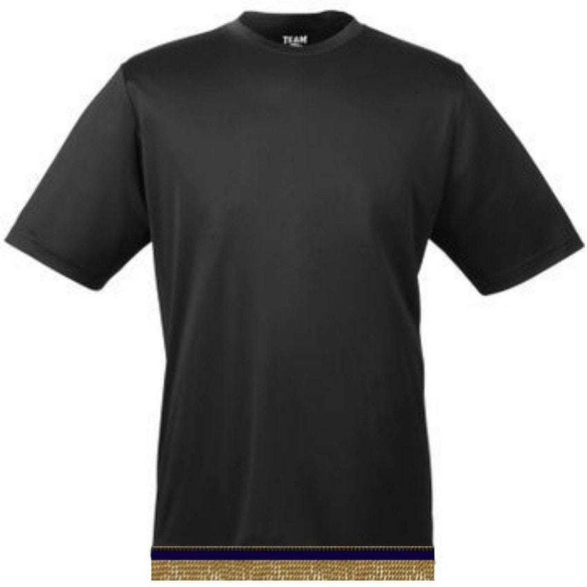 Performance Black Workout T-shirt With Fringes