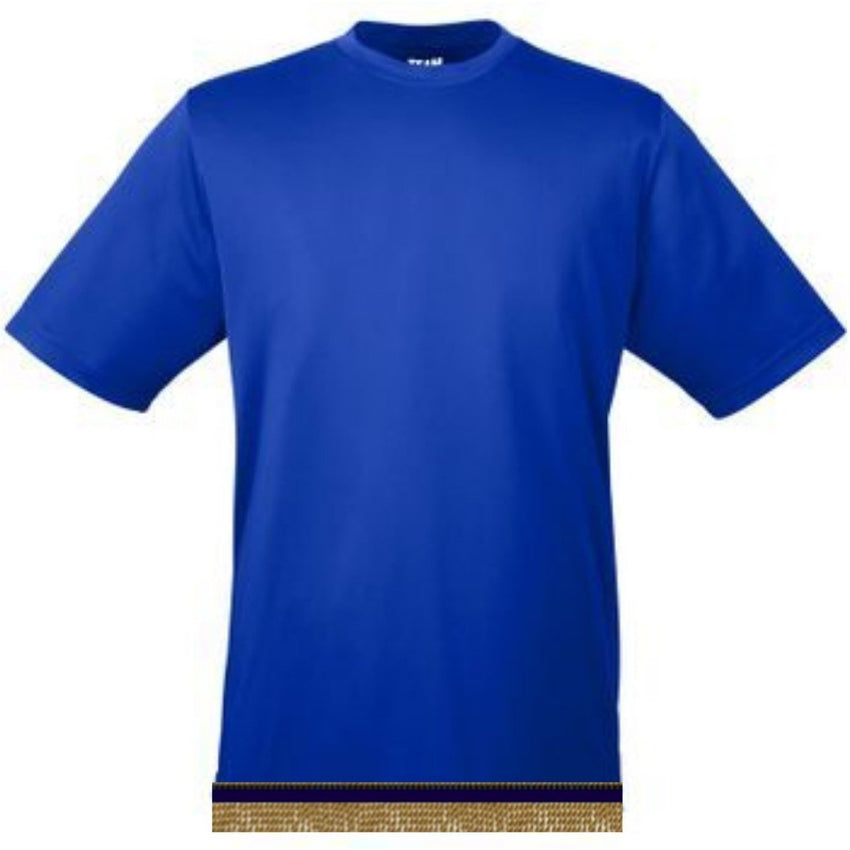 Royal Blue Workout Performance T-shirt With Fringes
