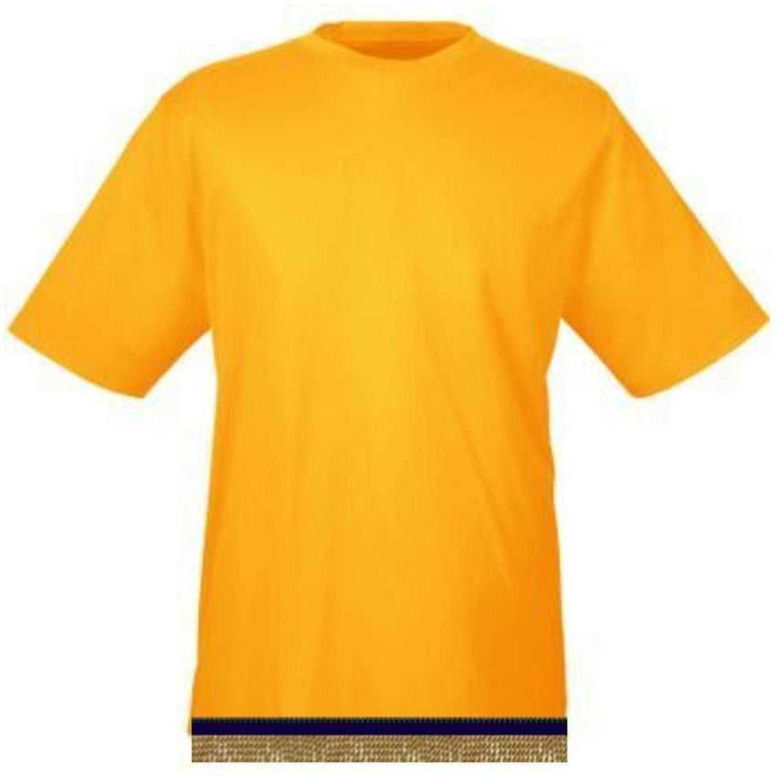 Performance Yellow Gold Workout T-shirt With Fringes