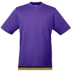 Performance Purple Workout T-shirt With Fringes