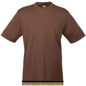 Performance Brown Workout T-shirt With Fringes