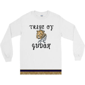 Long Sleeve Israelite Tribe Of Judah T-shirt With Gold Fringes