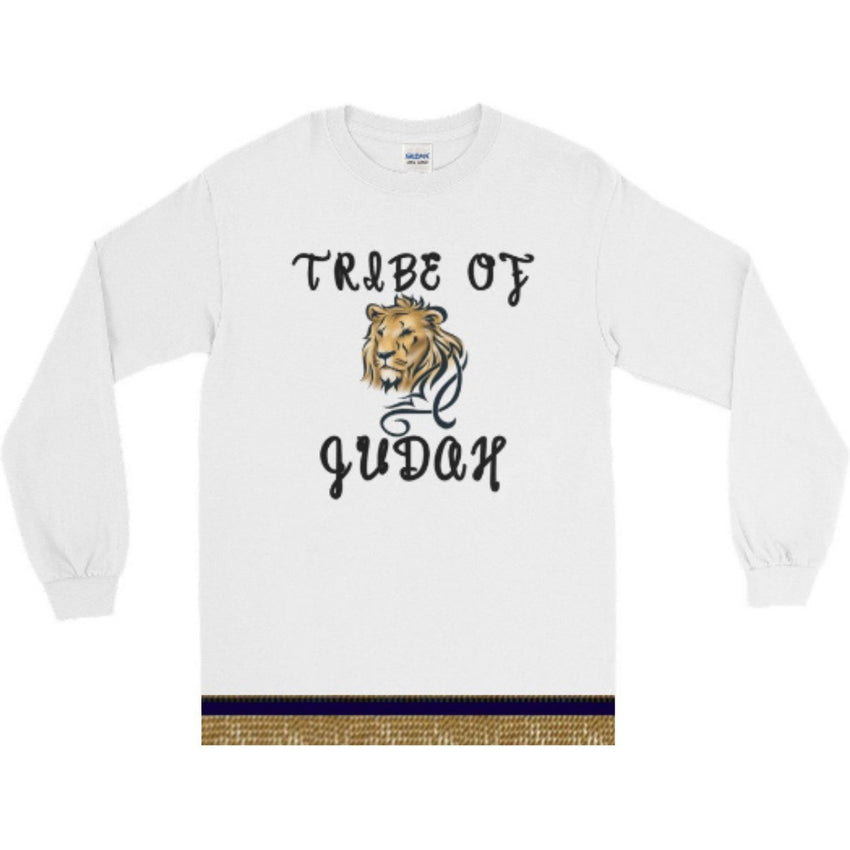 Israelite Tribe Of Judah Long Sleeve T-shirts With Gold Fringes