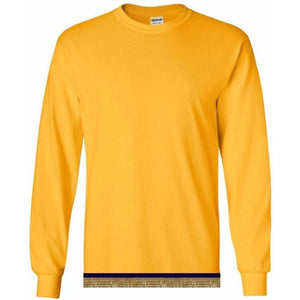 Long Sleeve Youth Boys & Girls Yellow Gold T-shirt With Fringes
