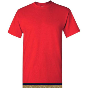 Short Sleeve Youth Boys & Girls Red T-shirt With Fringes