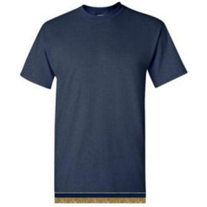 Youth Boys & Girls Navy Blue Short Sleeve T-shirt With Fringes
