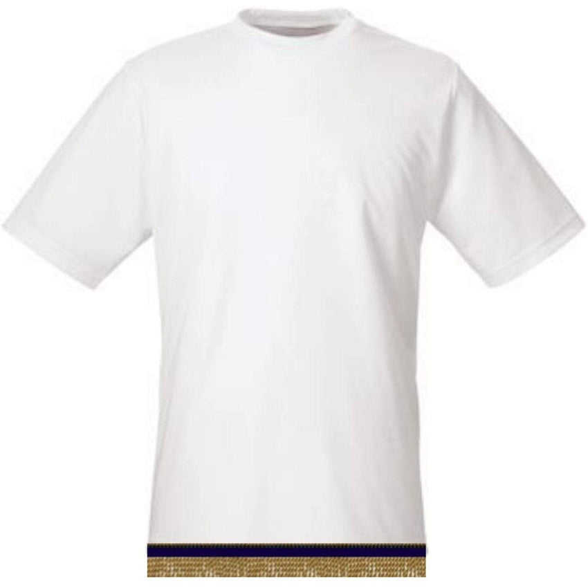 White Workout Performance T-shirt With Fringes