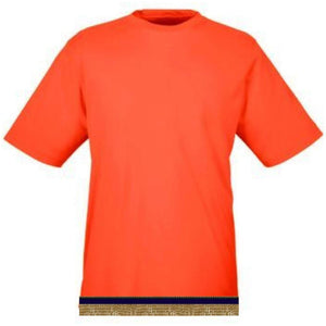 Performance Bright Orange Workout T-shirt With Fringes
