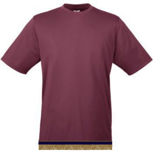 Performance Maroon Workout T-shirt With Fringes