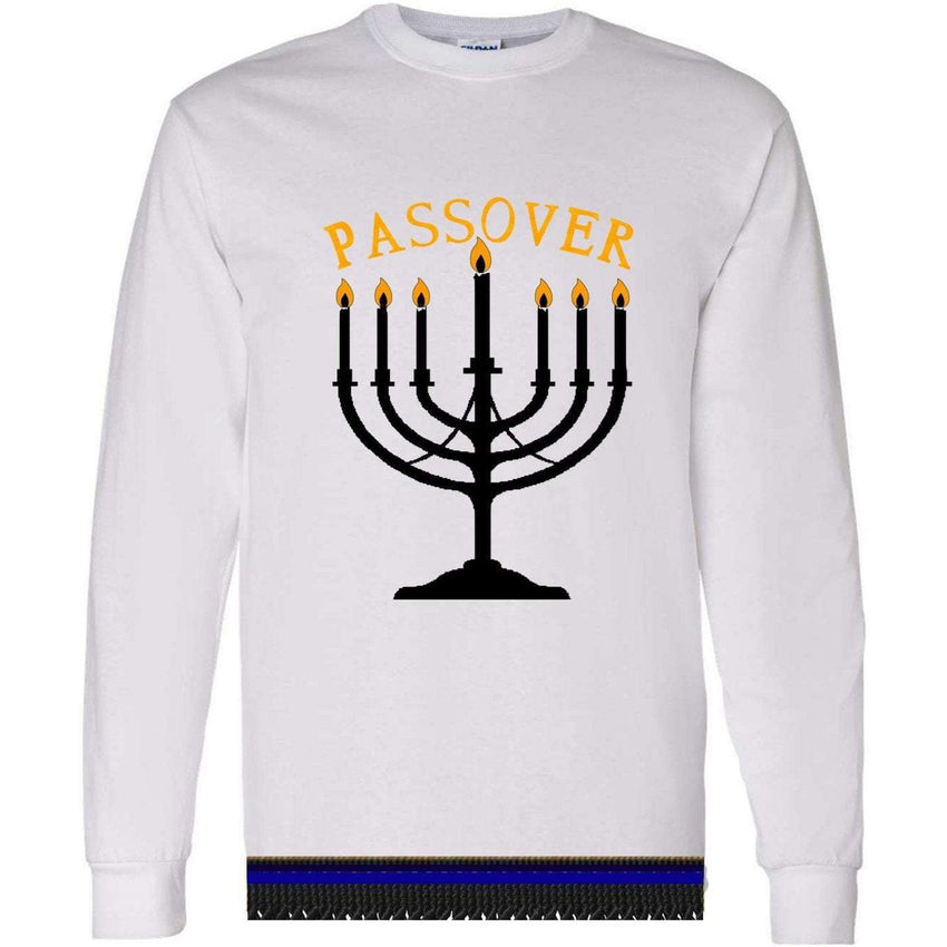 Israelite Passover Long Sleeve T-shirt With Fringes