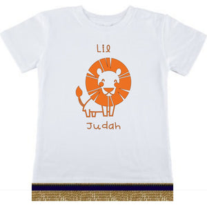 Youth Boys Israelite Lil Judah Short Sleeve T-shirt With Fringes