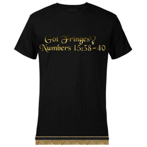 Israelite Got Fringes Short Sleeve T-shirt With Fringes