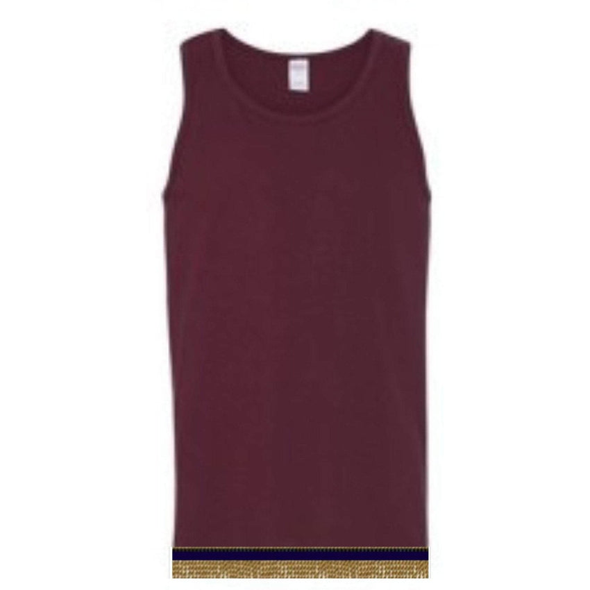 Sleeveless Burgundy Tank Top With Fringes
