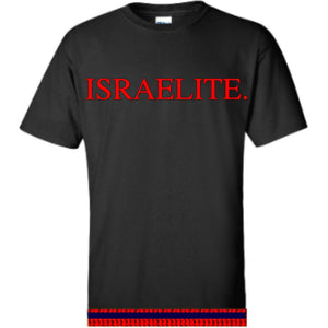 Israelite Period In Bright Red T-shirt With Fringes