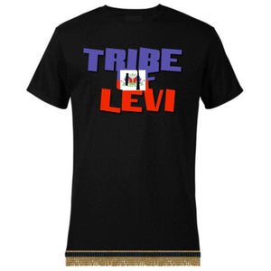 Israelite Tribe Of Levi Short Sleeve T-Shirt With Fringes