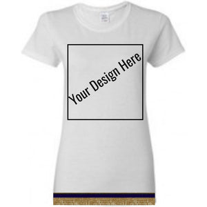 Custom Women's Short Sleeve T-shirt With Fringes ( Two Sided Printing)