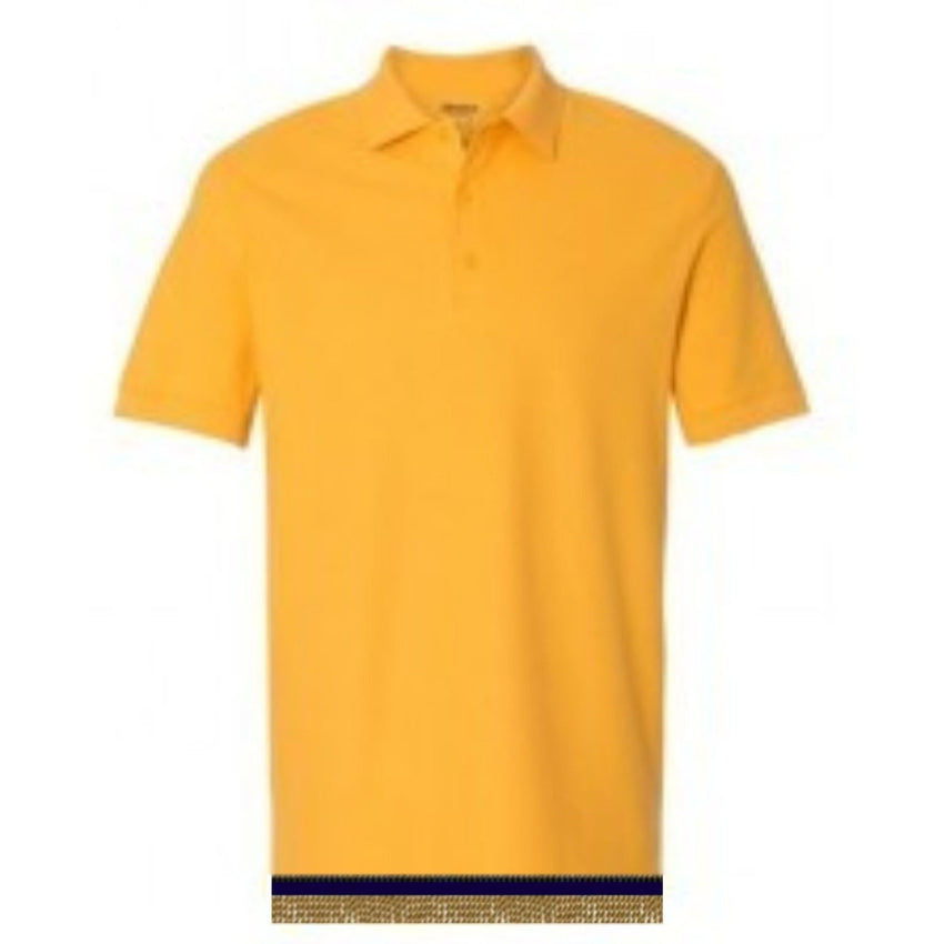 Short Sleeve Yellow Gold POLO  Shirt With Fringes