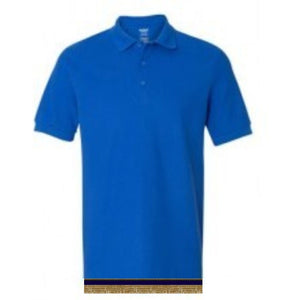 Short Sleeve Royal Blue POLO  Shirt With Fringes
