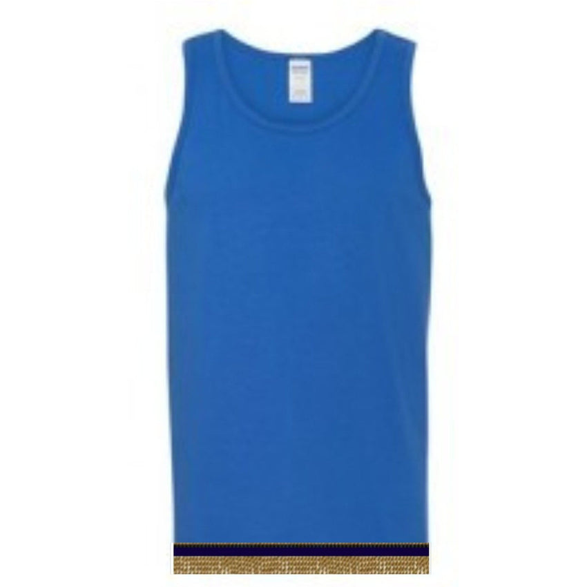 Sleeveless Royal Blue Tank Top With Fringes