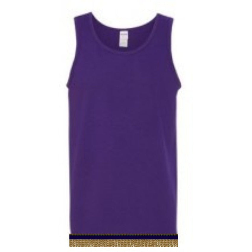 Sleeveless Purple Tank Top With Fringes
