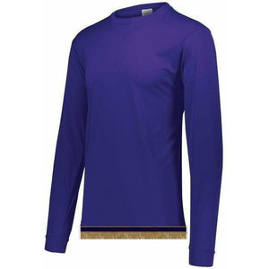 Performance Purple Long Sleeve T-shirt With Fringes
