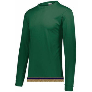Performance Green Long Sleeve T-shirt With Fringes