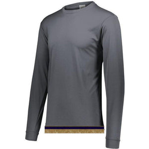 Performance Charcoal Long Sleeve T-shirt With Fringes
