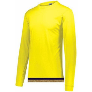 Performance Bright Yellow Long Sleeve T-shirt With Fringes