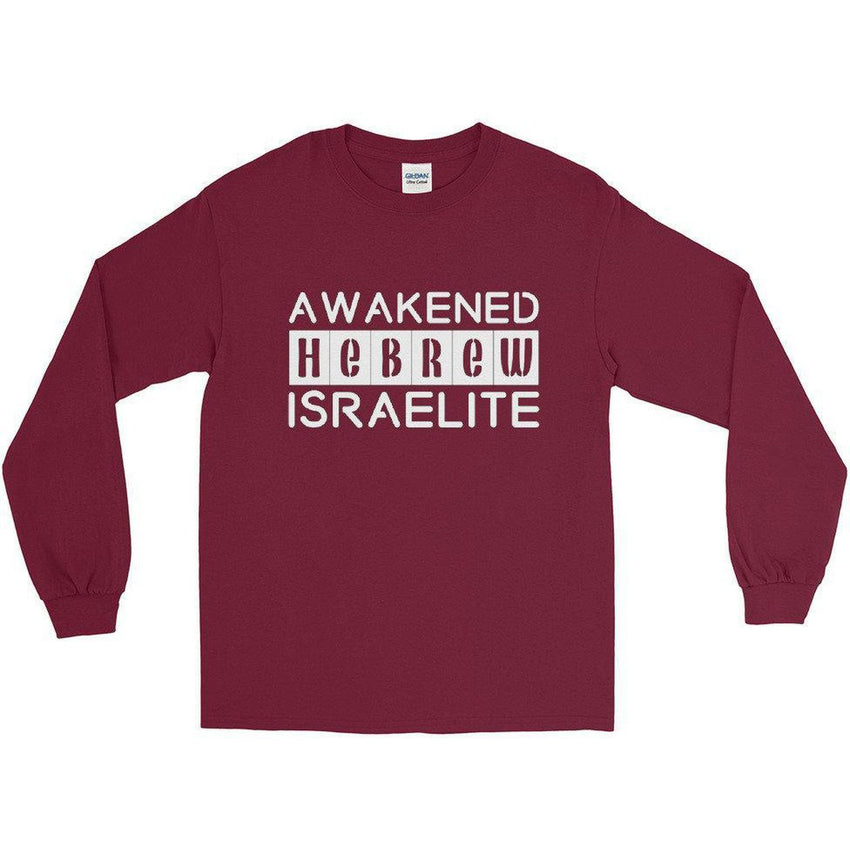 Long Sleeve Israelite Awakened Hebrew T-shirt With White Fringes