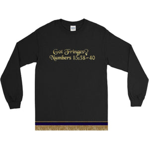 Long Sleeve Israelite Got Fringes T-shirt With Gold Fringes