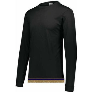 Performance Black Long Sleeve T-shirt With Fringes