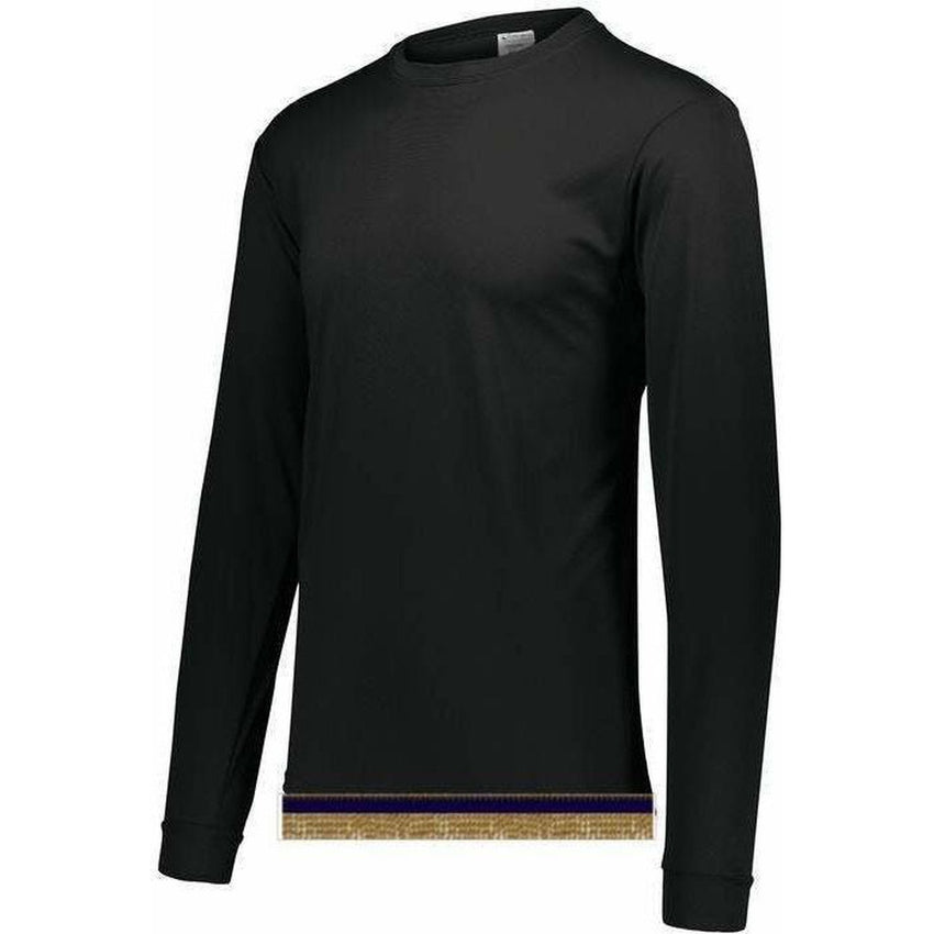 Black Performance Long Sleeve T-shirt With Fringes