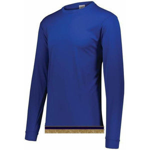 Royal Blue Performance Long Sleeve T-shirt With Fringes