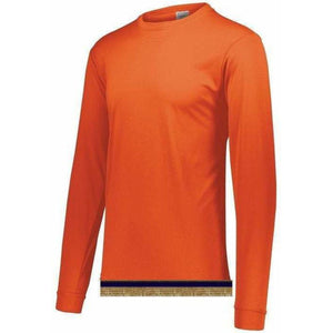 Performance Orange Long Sleeve T-shirt With Fringes