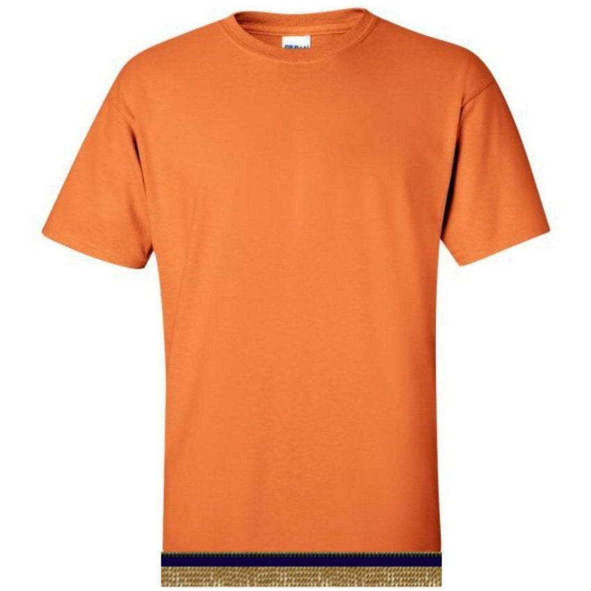 Short Sleeve Adult Orange T-shirt With Fringes