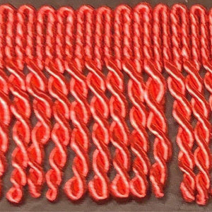 "2"" 27 Yards Red Premium Bullion Fringes"