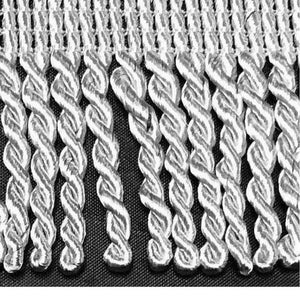 "2"" 27 Yards Silver Premium Bullion Fringes"