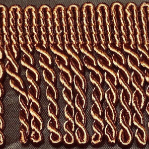 "2"" 27 Yards Light Brown Premium Bullion Fringes"
