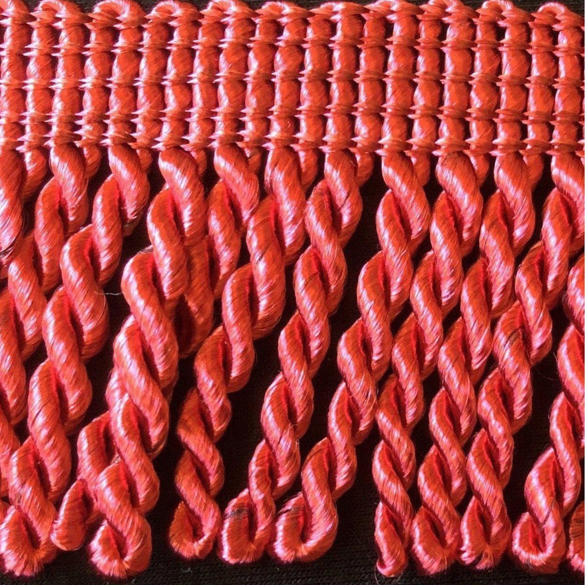 "2"" 27 Yards Cherry Red Premium Bullion Fringes"