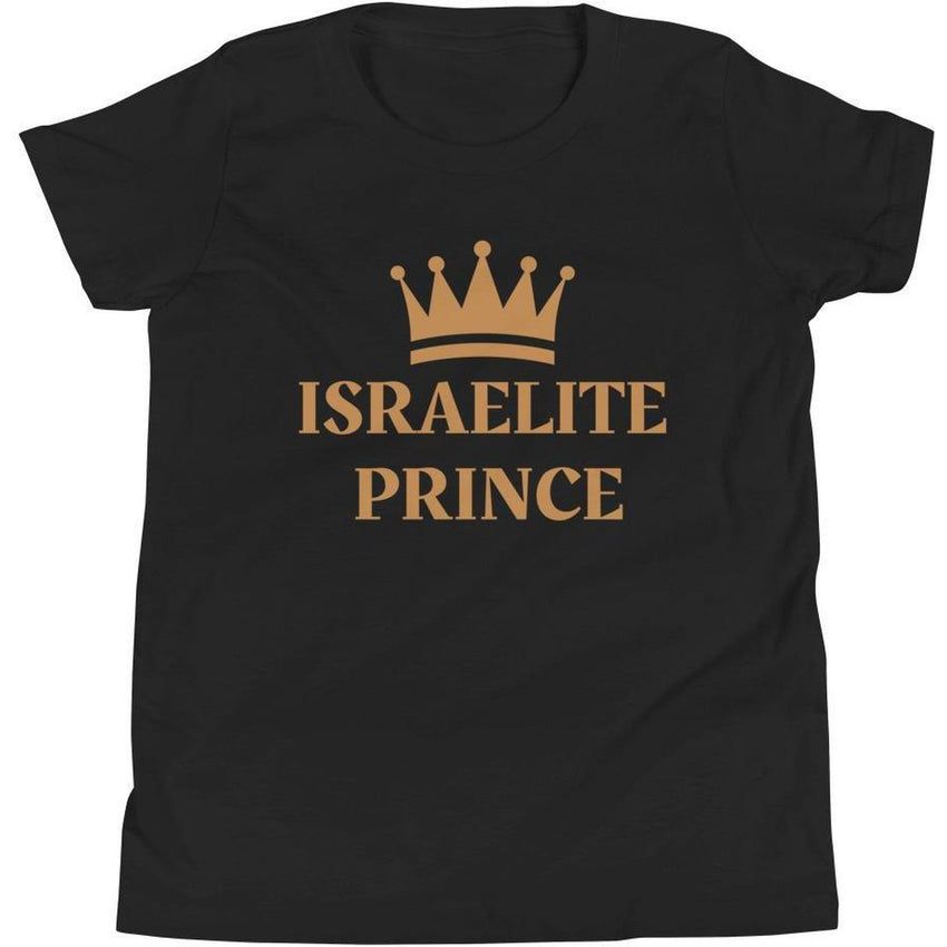 Israelite Prince Youth Short Sleeve T-Shirt With Gold Fringes
