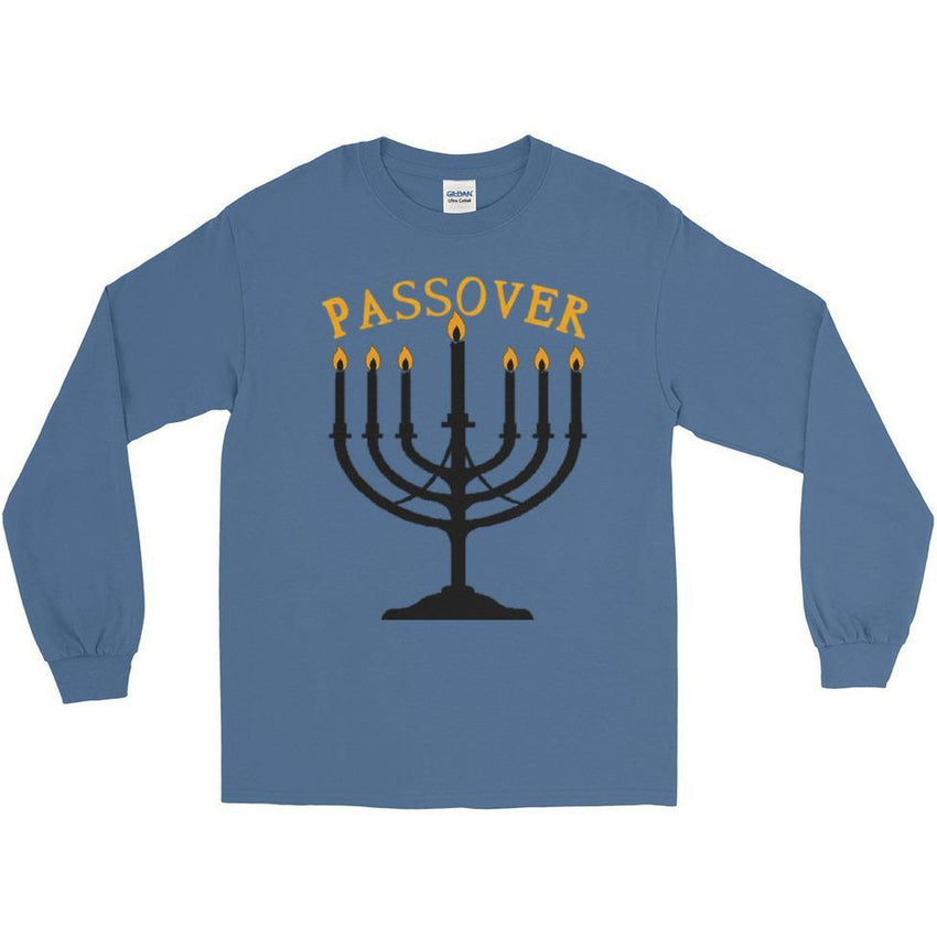 Long Sleeve Israelite Passover T-shirt With Gold Fringes