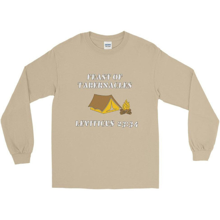 Israelite Feast Of Tabernacles Long Sleeve T-Shirt With Gold Fringes