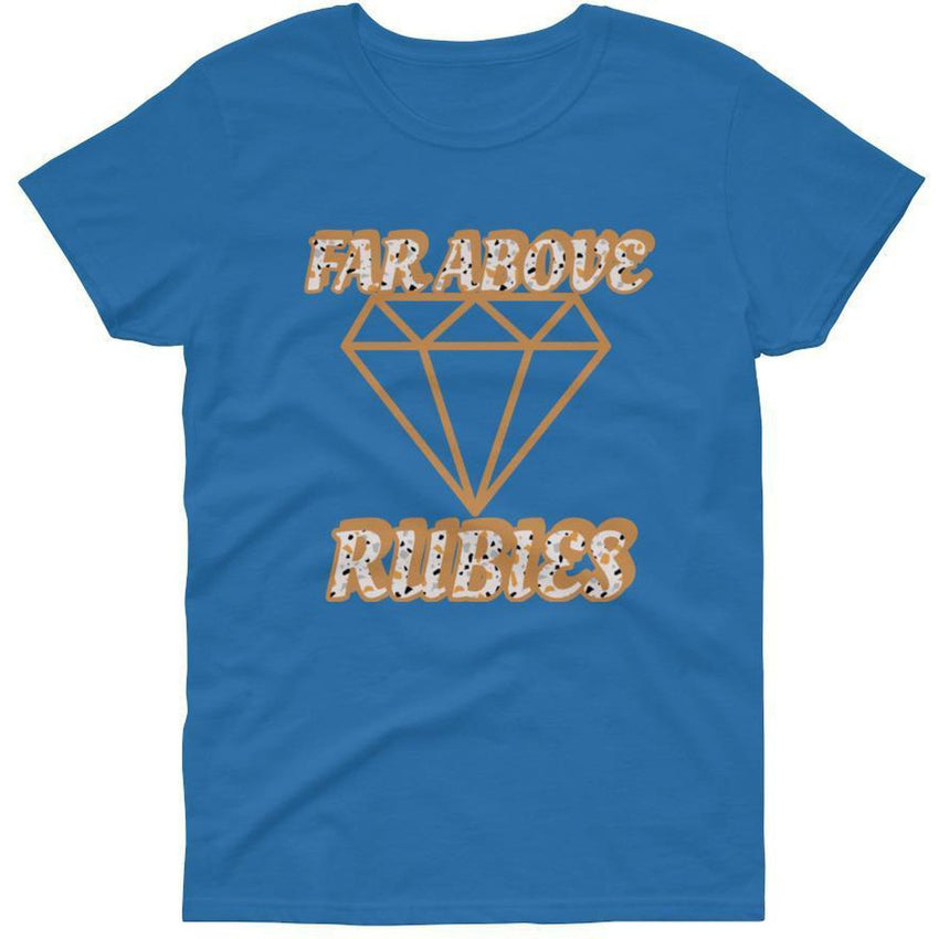 Israelite Far Above Rubies Short Sleeve T-shirt With Gold Fringes