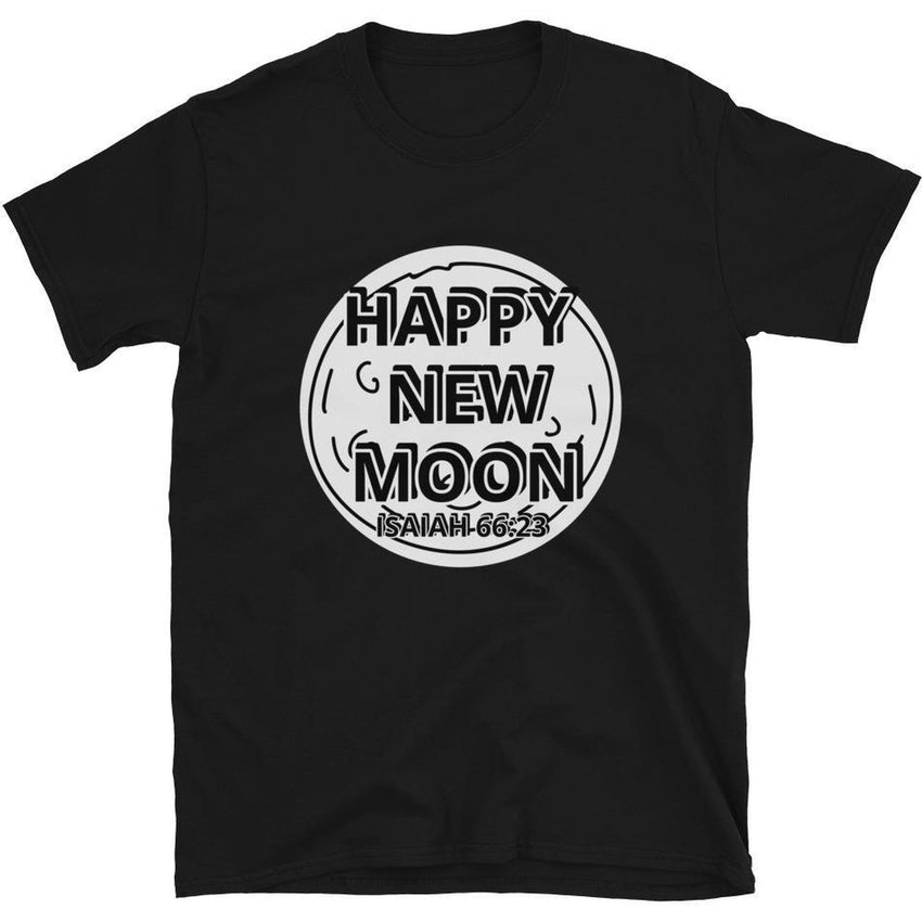 Israelite Happy New Moon Short Sleeve T-Shirt With Silver Fringes