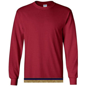 Long Sleeve Adult Cherry Red T-shirt With Fringes