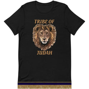 Israelite Tribe Of Judah Short Sleeve T-shirt With Gold Fringes