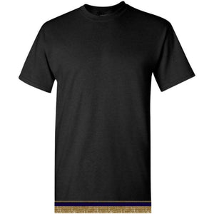 Short Sleeve Adult Black T-shirt With Fringes