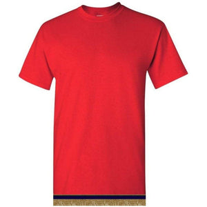 Short Sleeve Adult Bright Red T-shirt With Fringes