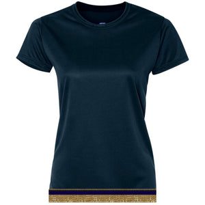 Women's Navy Blue Performance Shirt With Fringes